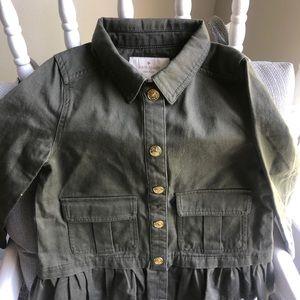 NWT Kate Spade Green Olive Girl's Jacket